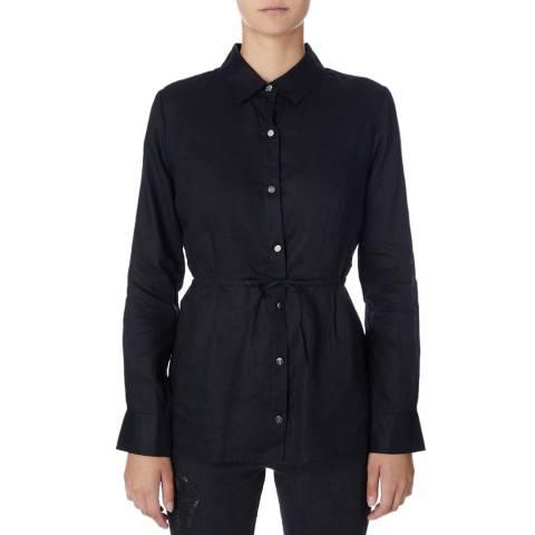 DKNY Black Long Sleeve Linen Tunic