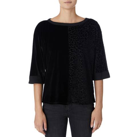 DKNY Black Short Sleeve Relaxed Top