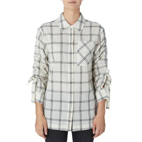 DKNY Ivory/Multi Long Sleeve Shirt