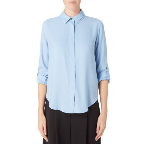 DKNY Blue Dropped Hem Shirt