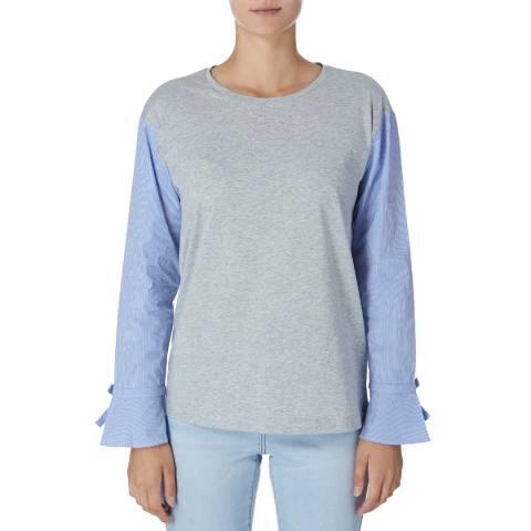 DKNY Grey/Blue Long Sleeve Sweater