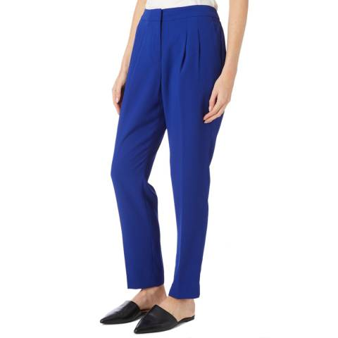 DKNY Royal Blue Pleated Pull On Trousers