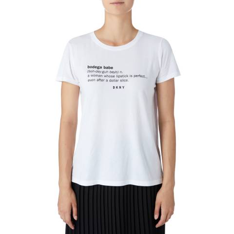DKNY White Crew Neck T-Shirt