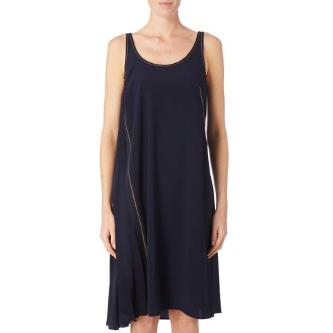 DKNY Navy Sleeveless Relaxed Dress