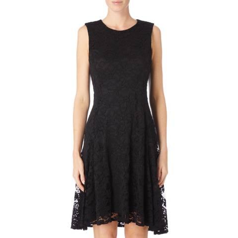 DKNY Black Slim Fit Lace Dress
