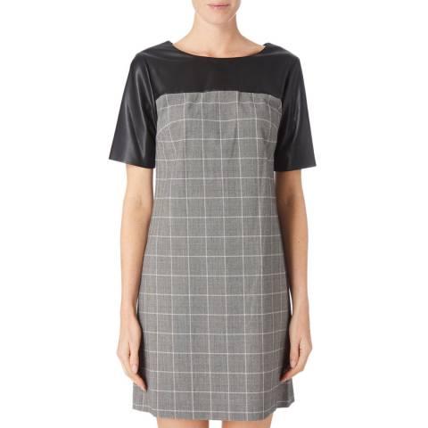 DKNY Grey/Black Crew Neck Dress
