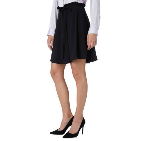 DKNY Black Ruffle Self Tie Skirt