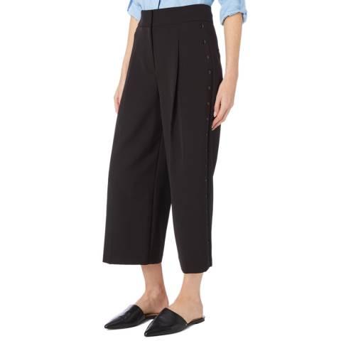 DKNY Black Cropped Wide Leg Pant