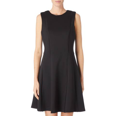 DKNY Black Sleeveless Foundation Dress