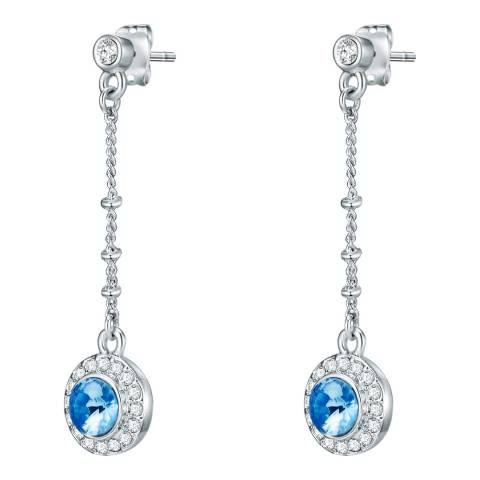 Saint Francis Crystals Silver/Blue Crystal Earrings