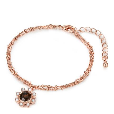 Saint Francis Crystals Rose Gold/Brown Crystal Bracelet