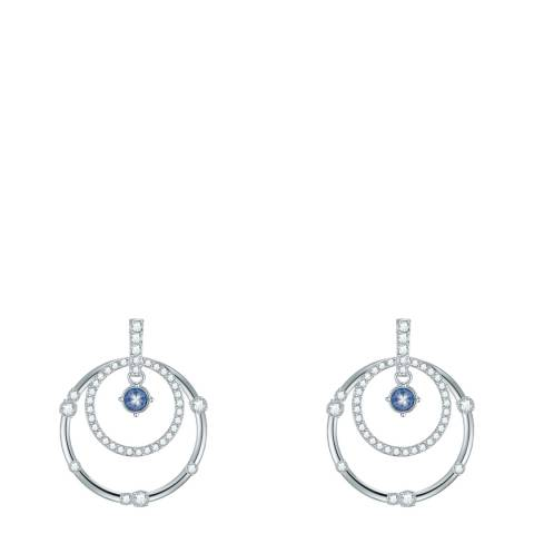 Saint Francis Crystals Silver/Blue Crystal Earrings
