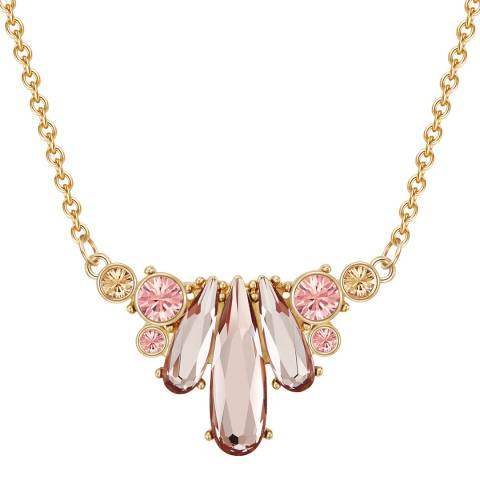 Saint Francis Crystals Gold/Rose Crystal Necklace
