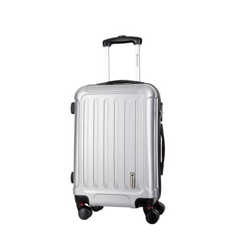 Platinum Silver 8 Wheel Amarillo Suitcase 56cm
