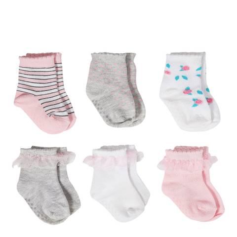 Aden & Anais Roses Set Of 6 Cotton Crew Socks