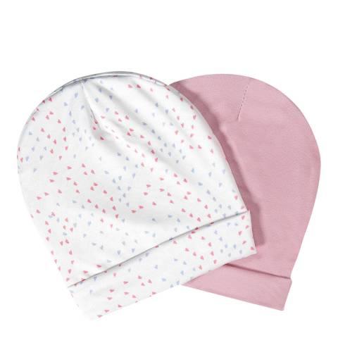 Aden & Anais Mini Hearts Set Of 2 Beanie Hats