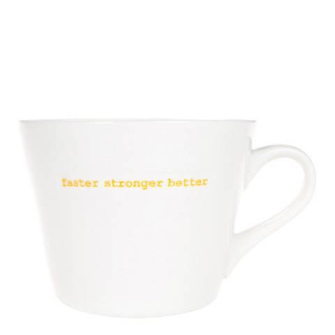 Keith Brymer Jones Faster Stronger Better Standard Bucket Mug, 350ml