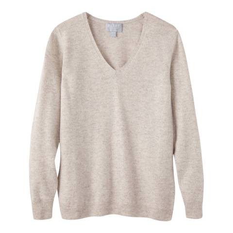 Pure Collection Marble V Neck Cashmere Jumper