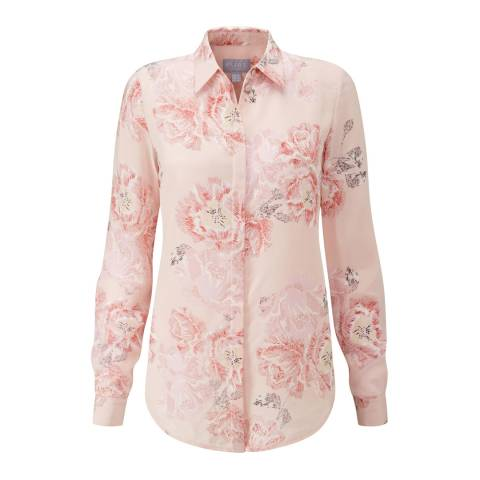 Pure Collection Pale Pink Relaxed Washed Silk Blouse