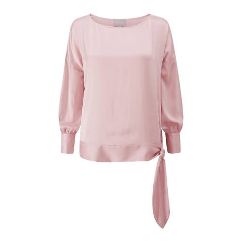 Pure Collection Rose Silk Satin Panel Top