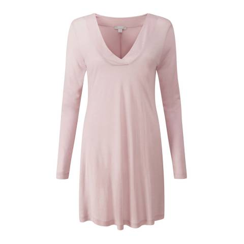 Pure Collection Soft Pink Wool Blend Jersey Top