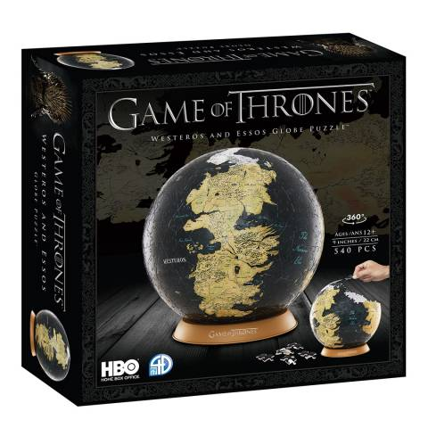 "Coiledspring Games Game of Thrones 9"" Globe 3D Puzzle (540pc)"