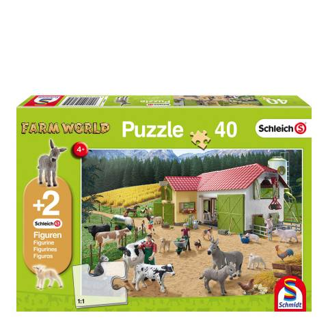 Coiledspring Games Schleich A Day at the Farm Puzzle with two figures (40pc)