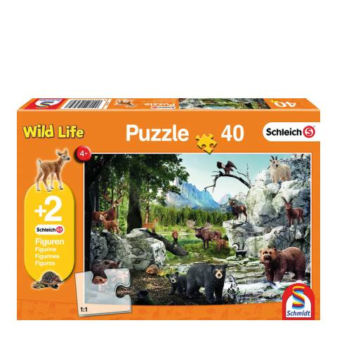 Coiledspring Games Schleich The Animals of the Forest Puzzle with two figures (40pc)