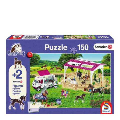 Coiledspring Games Schleich Riding School and Veterinarian Puzzle with two figures (150pc)