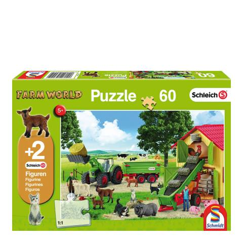 Coiledspring Games Schleich Hay Harvest on the Farm Puzzle with two figures (60pc)