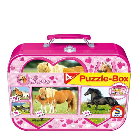 Coiledspring Games I Love Horses Four Puzzle Box
