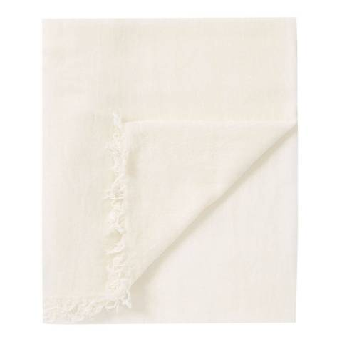 Pure Collection Soft White Ultra Fine Cashmere Scarf