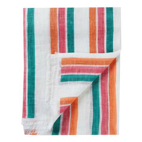 Pure Collection Stripe Washed Linen Scarf