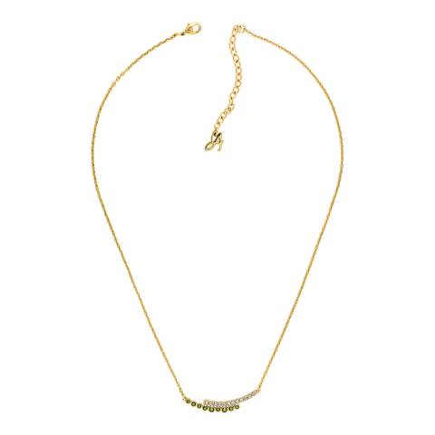 Adore by Swarovski® Gold Plated Iridescent Pave Curved Bar Necklace