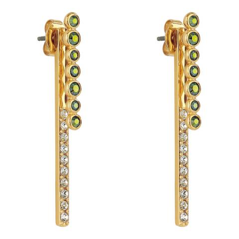 Adore by Swarovski® Gold Plated Iridescent Round Link Earrings