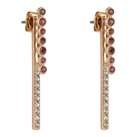 Adore by Swarovski® Rose Gold Plated Lilac Round Link Earrings