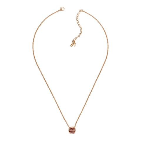 Adore by Swarovski® Rose Gold Plated Lilac Pave Cushion Necklace