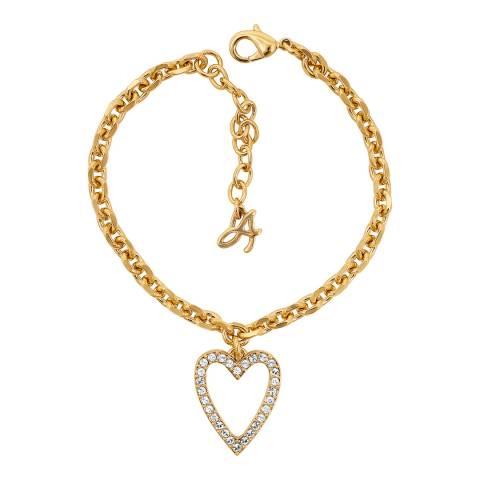 Adore by Swarovski® Gold Plated Open Heart Charm Bracelet