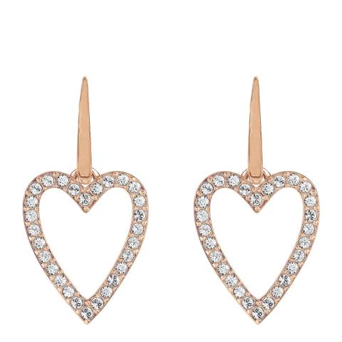 Adore by Swarovski® Rose Gold Plated Open Heart Earrings