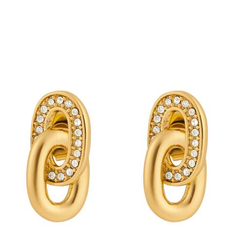 Adore by Swarovski® Gold Plated Interlocking Link Earrings