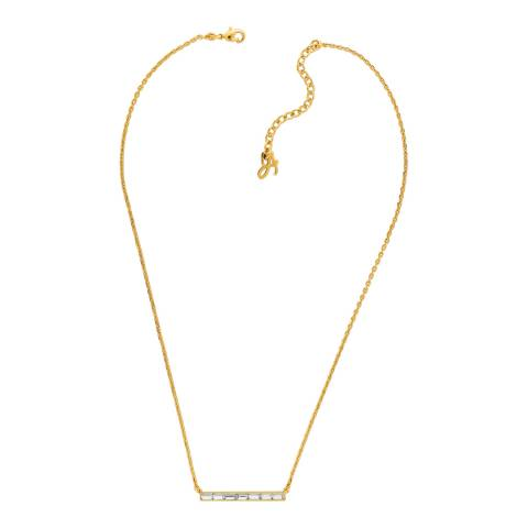 Adore by Swarovski® Gold Plated Baguette Bar Necklace