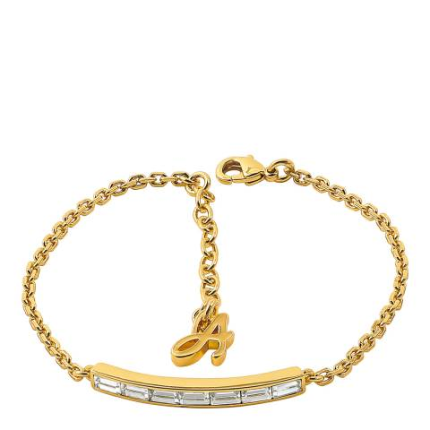 Adore by Swarovski® Gold Plated Baguette Bar Bracelet