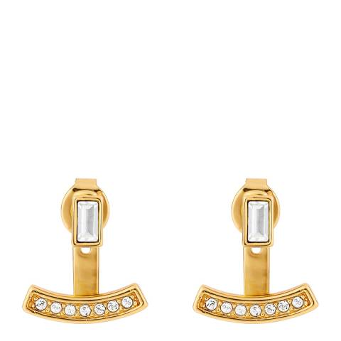 Adore by Swarovski® Gold Plated Baguette Bar Earrings