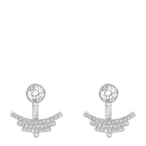 Adore by Swarovski® Silver Pave Arc Jacket Earrings