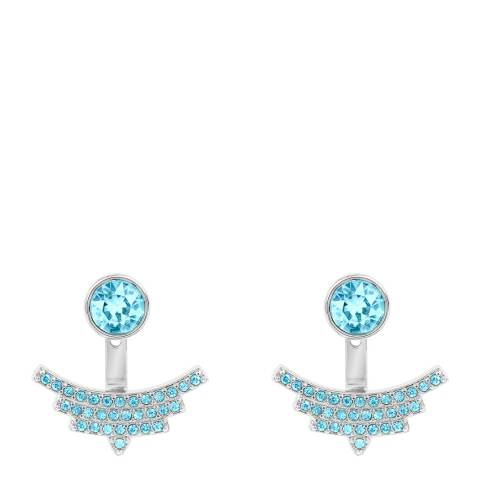 Adore by Swarovski® Silver Blue Pave Arc Jacket Earrings