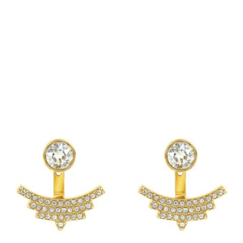 Adore by Swarovski® Gold Plated Clear Pave Arc Jacket Earrings