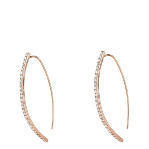 Adore by Swarovski® Rose Gold Plated Pave Arc Earrings