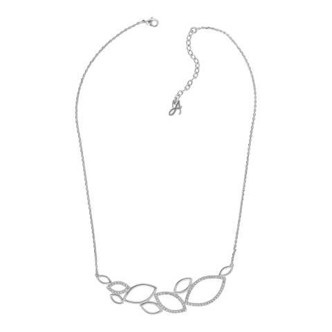 Adore by Swarovski® Silver Open Petal Necklace