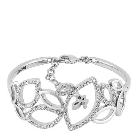 Adore by Swarovski® Silver Open Petal Soft Cuff