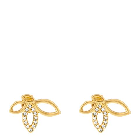 Adore by Swarovski® Gold Plated Open Petal Post Earrings